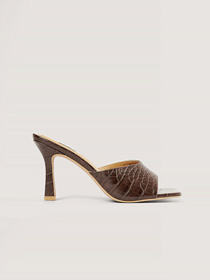 NA-KD Shoes Mules brun