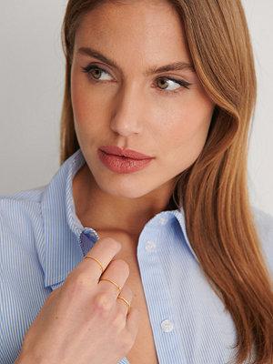 NA-KD Accessories smycke Guldpläterade 3-pack Ringar guld