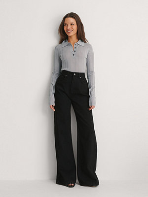 Jeans - NA-KD Trend Ekologiska Vida Jeans svart