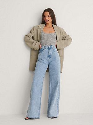 Jeans - NA-KD Trend Ekologiska Vida Jeans blå