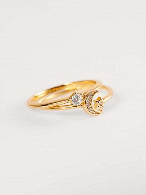 NA-KD Accessories smycke Guldpläterad Smal Glittrande Ring guld
