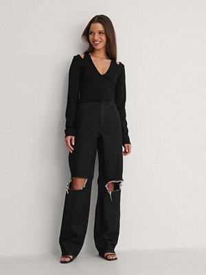 Jeans - NA-KD Ekologiska Tvättade Jeans svart