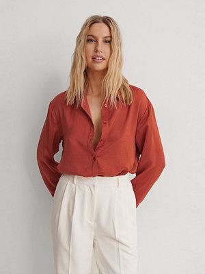 NA-KD Reborn Skjorta Med Lös Passform orange