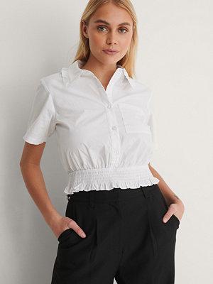 NA-KD Skjorta Med Kort Ärm vit