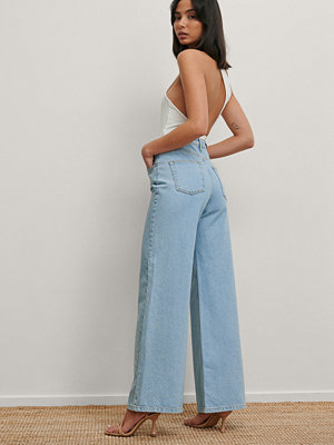 Matiamu By Sofia x NA-KD Recycled Jeans Med Vida Ben blå