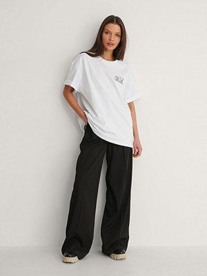 NA-KD Trend Ekologisk T-shirt Med Citattryck vit