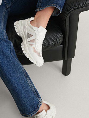 NA-KD Shoes Transparenta Mesh-Träningsskor vit