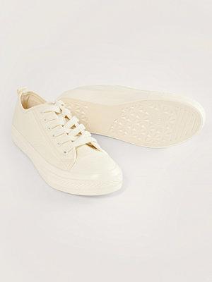 NA-KD Shoes Låga Träningsskor Med Snören vit