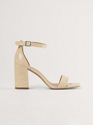 NA-KD Shoes Sandal Med Blockklack beige