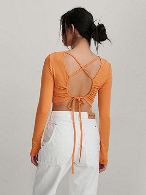 NA-KD Trend Topp Med Knyt Bak orange