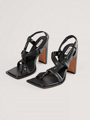 NA-KD Shoes Högklackade Skor Med Knyt svart