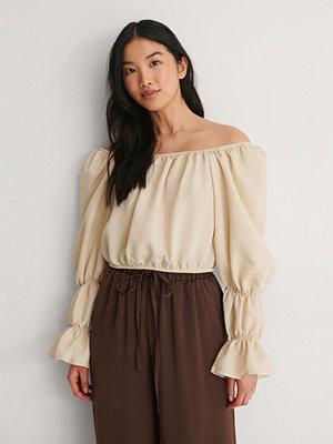 Toppar - Trendyol Off Shoulder-Blus beige