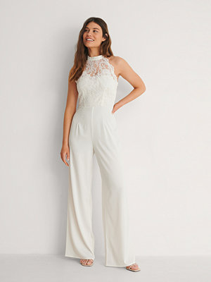 Jumpsuits & playsuits - Ida Sjöstedt for NA-KD Spets-Jumpsuit vit