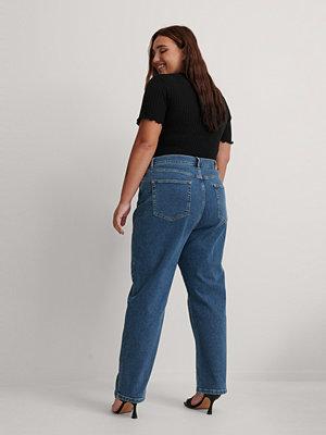 Jeans - NA-KD Ekologiska Raka Jeans Med Hög Midja blå