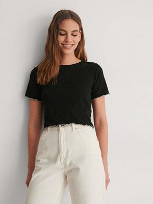 T-shirts - Trendyol Ribbad T-Shirt svart