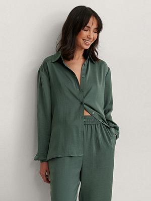 NA-KD Reborn Skjorta Med Lös Passform grön