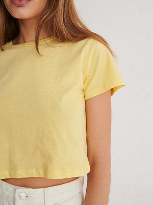 Trendyol Croppad T-Shirt gul