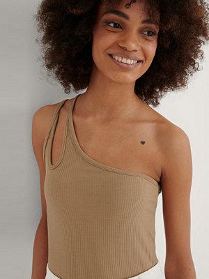Trendyol Milla One Shoulder Top beige