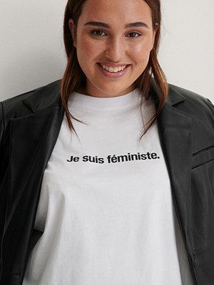 NA-KD Ekologisk Je Suis Feminist T-shirt vit