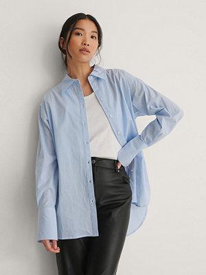 NA-KD Classic Oversize Skjorta blå