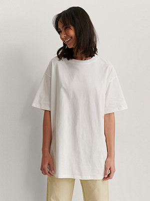NA-KD Basic Ekologisk Oversize T-shirt offvit