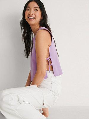 Trendyol Side Tie Top lila