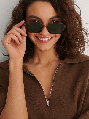 NA-KD Accessories Retro Solglasögon Med Smala Bågar brun