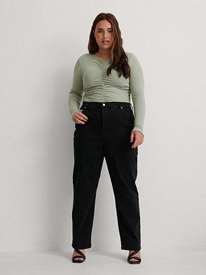 NA-KD Ekologiska Raka Jeans Med Hög Midja svart