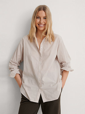 NA-KD Classic Oversize Skjorta beige