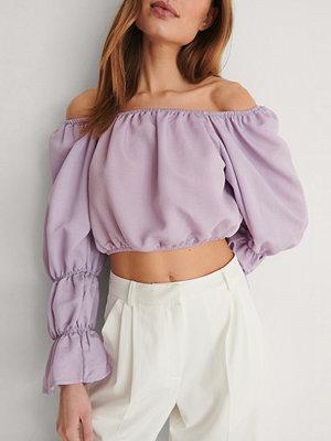 Trendyol Off Shoulder-Blus lila