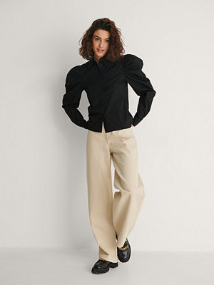 NA-KD Skjorta Med Puffärm svart