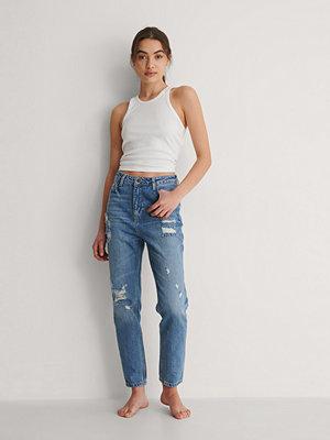 Trendyol Rivna Jeans Med Hög Midja blå