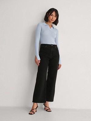 NA-KD Reborn Ekologiska Jeans Med Hög Midja svart
