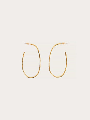 NA-KD Accessories smycke Gold Plated Oval Hammered Hoops guld