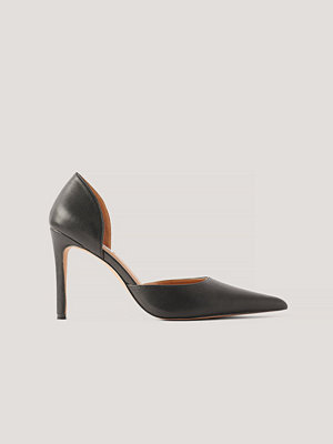 NA-KD Shoes Högklackade Pumps Med Utskurna Detaljer svart
