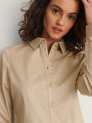 NA-KD Classic Ekologisk Skjorta beige