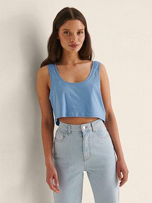 Rianne Meijer x NA-KD Ekologisk Croppad Jersey-topp blå
