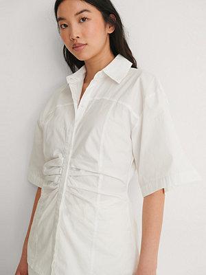 NA-KD Trend Skjorta Med Kort Ärm vit