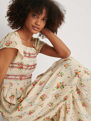 NA-KD Boho Smock Printed Dress multicolor