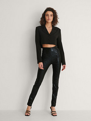 Leggings & tights - NA-KD Party Slim Fit-Byxor svart