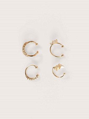 NA-KD Accessories smycke Dubbelpack Återvunna Glittrande Örhängen guld