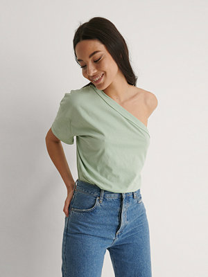 Trendyol T-Shirt Med En Axel grön
