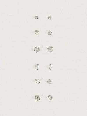 NA-KD Accessories smycke Gnistrande Örhängesset silver