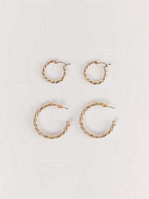 NA-KD Accessories smycke Set Med Återvunna Flätade Örhängen guld