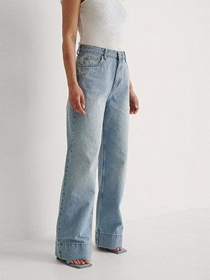 Trendyol Ekologiska Jeans Med Hög Midja blå