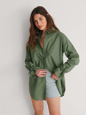 NA-KD Recycled Oversize Skjorta grön