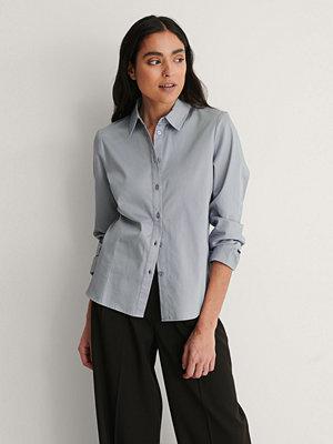 NA-KD Classic Ekologisk Skjorta blå