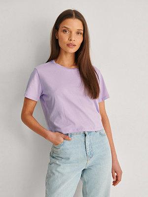 Trendyol Ekologisk Croppad T-shirt lila