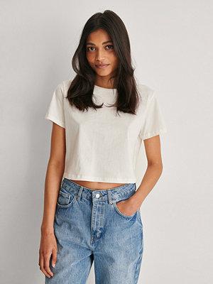 Trendyol Ekologisk Croppad T-shirt vit