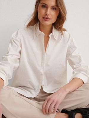 NA-KD Trend Recycled Oversize Skjorta offvit